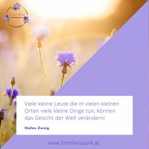 Familienstark Psychologische Beratung Psychologin Blumen Sommerwiese Zitat