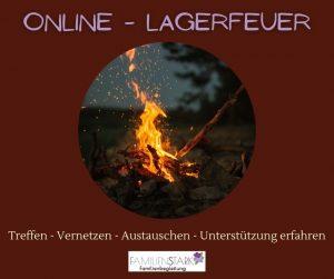 Online Lagerfeuer Veranstaltung Familienstark