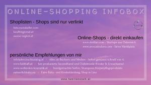 Online-Shopping Infobox Familienstark