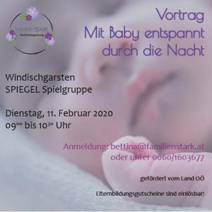 Vortrag Babyschlaf Familienstark Bettina Dutzler